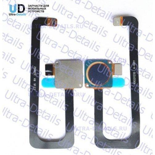 Шлейф для ZTE Axon 7 сканер отпечатка пальцев черный